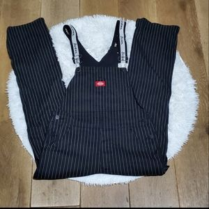 Dickies Pinstripe Overalls Small